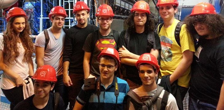 Tel Aviv University Physics students on a visit to the ATLAS detector at CERN